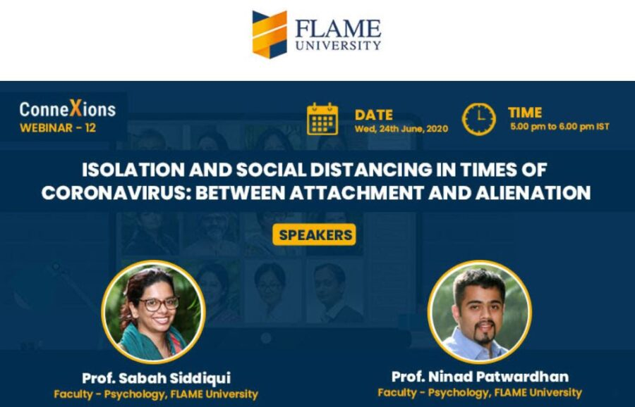 webinar isolation and distancing during COVID