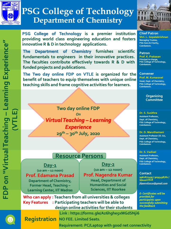 Online FDP vitrual teaching learning experience