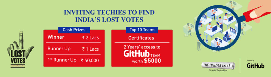 Times of India (TOI) Lost Votes Tech Solutions Challenge